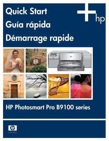 Quick Start Guía rápida Démarrage rapide - HP