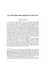 ELS JUDAÏTZANTS MALLORQUINS DEL SEGLE. XVIII
