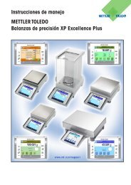 Instrucciones de manejo Balanzas de precisión XP Excellence Plus