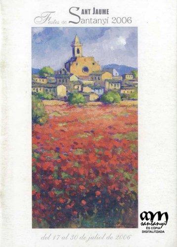 Programa de festes de Sant Jaume de - Ajuntament de Santanyí
