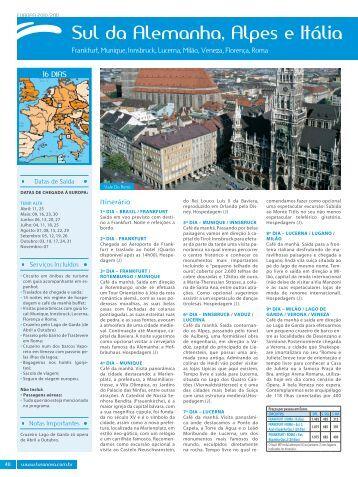 Sul da Alemanha, Alpes e Itália - Lusanova