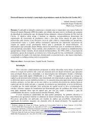 Desenvolvimento territorial: a associação de produtores ... - SOBER
