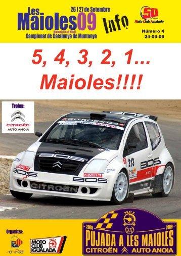 5, 4, 3, 2, 1... Maioles!!!! - Moto Club Igualada