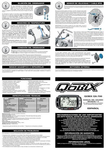 Qobix QX-700 - Manual del usu...