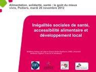 Inégalités sociales de santé, accessibilité alimentaire et ...