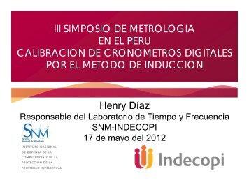 Calibración de cronómetros por el método de inducción ... - Indecopi