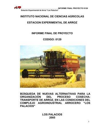 los palacios - Instituto Nacional de Ciencias Agrícolas