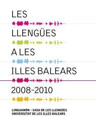 les llengües a les illes balears 2008-2010 - Generalitat de Catalunya