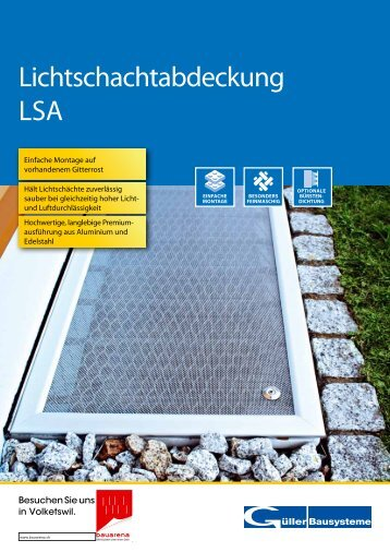 Lichtschachtabdeckung LSA - Gueller.ch