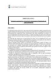 Ordenança municipal per a la instal·lació i - Alcover