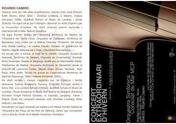 programa concert mcp - unió musical de benaguasil 1905 - 2005