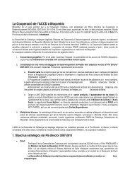 Dossier l'ACCD a Moçambic - Premsa - Generalitat de Catalunya