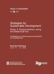 Strategies for Sustainable Development - Generalitat de Catalunya