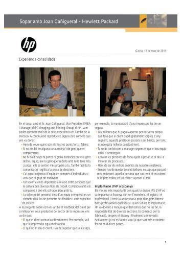 Sopar amb Joan Cañigueral - Hewlett Packard