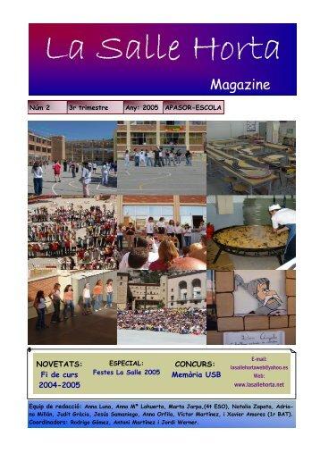 La Salle Horta Magazine - La Salle Catalunya