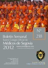 Boletin 218 COMPLETO.pdf - Ilustre Colegio Oficial de Médicos de ...