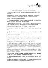 reglamento cabo de gata running festival 2012 - Organización y ...