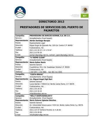 DIRECTORIO 2013 PRESTADORES DE ... - Coatzacoalcos