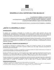 Desarrollo local sustentable para Malinalco - Fundación ...