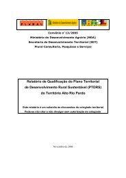 do Território Alto Rio Pardo - SIT - Sistema de Informações ...