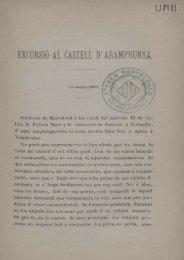 EXCURSIÓ AL CASTELL D* ARAMPRUNYÁ. - Dipòsit Digital de ...