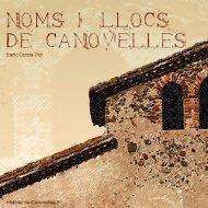 NOMS I LLOCS DE CANOVELLES - Estela - Ajuntament de ...