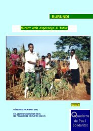BURUNDI Quaderns de Pau i Solidaritat - Veïns Sense Fronteres