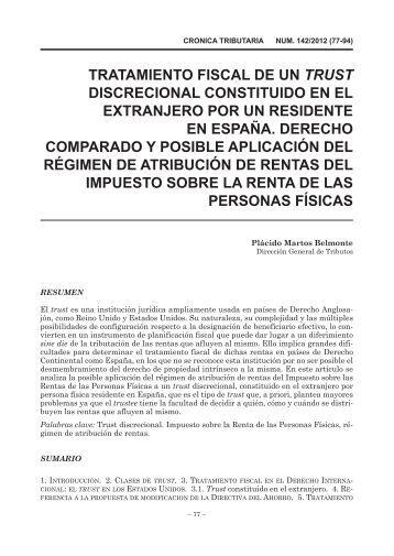 TRATAMIENTO FISCAL DE UN TRUST DISCRECIONAL ...