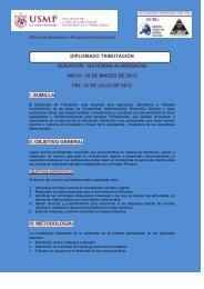 Diplomado en Tributación - Universidad de San Martín de Porres