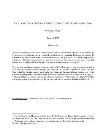 EVOLUCION DE LA TRIBUTACION EN COLOMBIA Y SUS ...