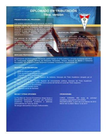Diplomado en Tributación – 19va. versión - Facultad de Ciencias ...