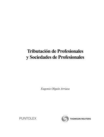 Tributación de Profesionales y Sociedades de Profesionales
