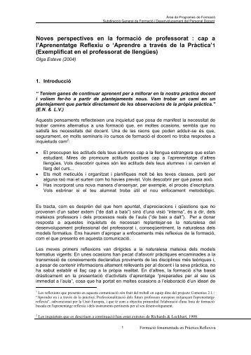Noves perspectives en la formació del professorat - Ateneu