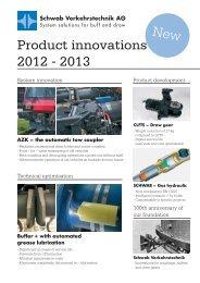 Product innovations 2012 - 2013 - Schwab Verkehrstechnik AG