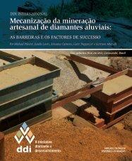 Mecanização da mineração artesanal de diamantes aluviais: