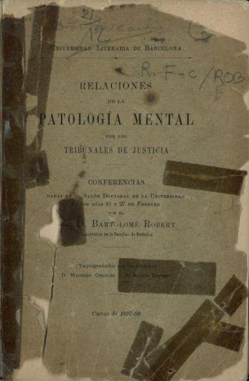 ATOLOGIA MENTAL - Universitat de Barcelona