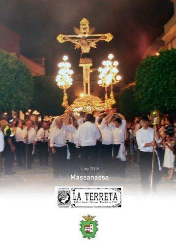 Libro LA TERRETA 2008.qxd - Ajuntament de Massanassa