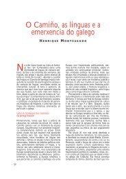 O Camiño, as linguas e a emerxencia do galego - Páxinas persoais ...