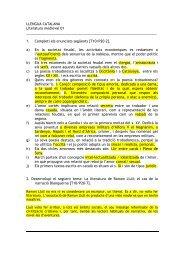 LLENGUA CATALANA Literatura medieval 01 1 ... - esca, esca, esca