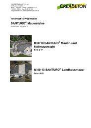 SANTURO Mauersteine M 00 10 SANTURO ... - Zeiss Neutra SA