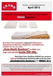 GASTGEBER BONUS - TREND Products