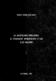 la museologia etnológica el pensament antropològic a les illes ...