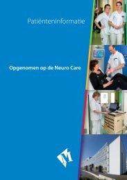 Folder Neuro Care - Martini ziekenhuis