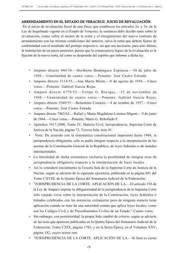 ARRENDAMIENTO EN EL ESTADO DE VERACRUZ. JUICIO DE ...
