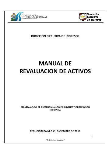 manual de revaluacion de activos - Dirección Ejecutiva de Ingresos
