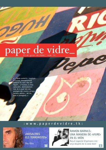 35 - Paper de Vidre