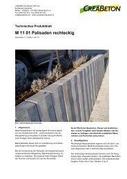M 11 01 Palisaden rechteckig - Zeiss Neutra SA