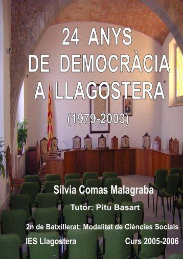 24 anys de democràcia a Llagostera - UdG