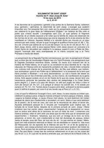 Homilia domingo xi del tiempo ordinario c abadia de montserrat - Tiempo olesa de montserrat ...