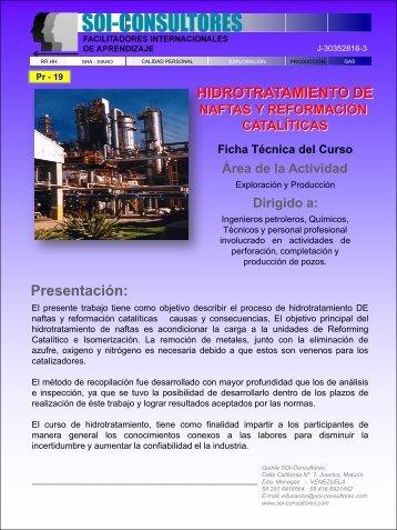 Pr-19 Hidrotratamiento de naftas y reformación catalíticos - SOI ...